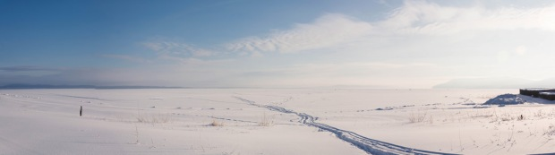 Russia Siberia winter landscape period snow ice scenery steppe Siberian field roads sky